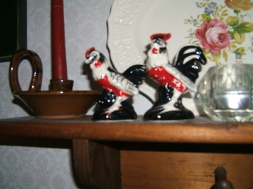 vintage rooster salt pepper