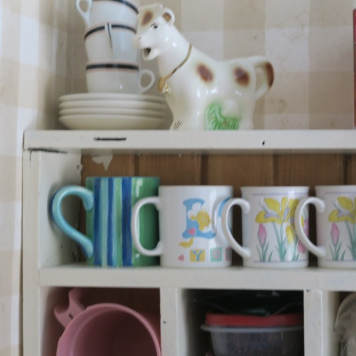 The cow is a vintage cream pitcher,
